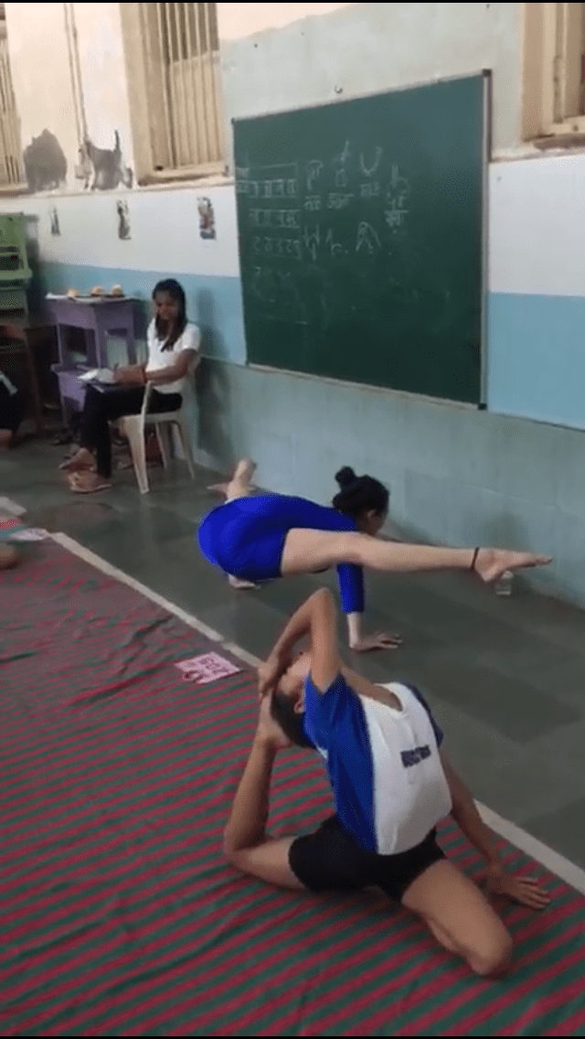 Muskaan Kapadia - First rank in DSO Yoga competition