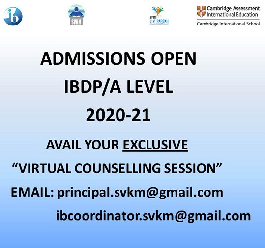 Admission Open : IBDP/A Level 2020-21